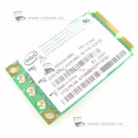 WiFi Intel Wireless WiFi Link 4965AGN 42T0867 Lenovo