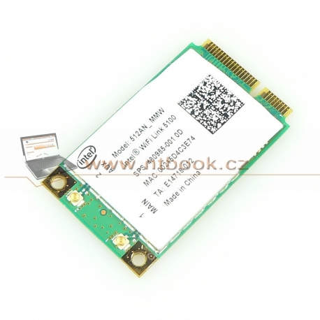 WiFi Intel WiFi Link 5100 480985-001 a/b/g/draft-n HP